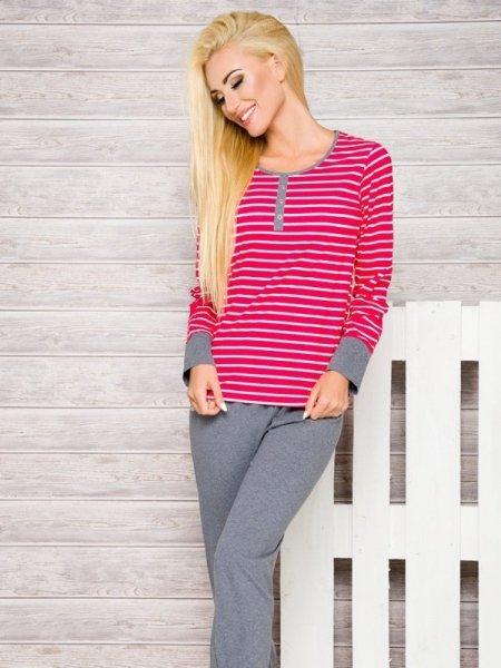 Taro Lisa 2120 AW/17 K1 Růžové proužky Dámské pyžamo M Růžové proužky