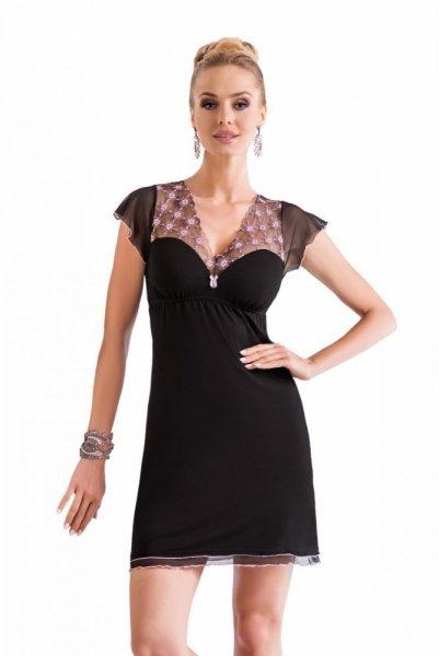 Donna Paris Noční košile L černo-růžová