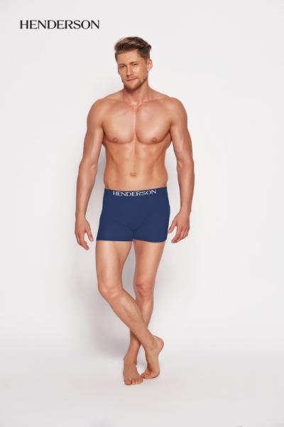 Henderson Man 35218-55x Tmavě modré Pánské boxerky XL tmavě modrá