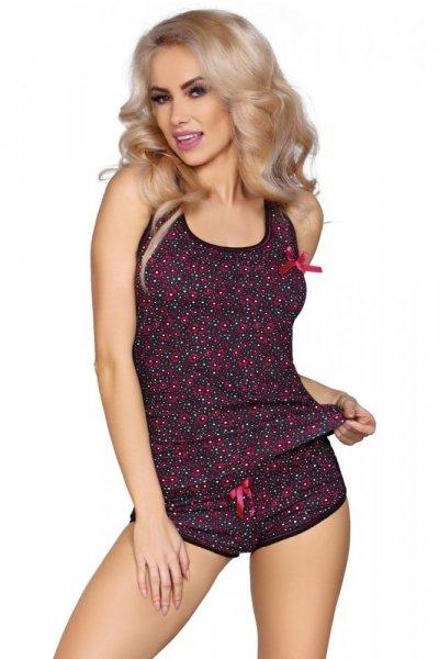 Cofashion Model 736/VI Dámské pyžamo One size černo-růžová