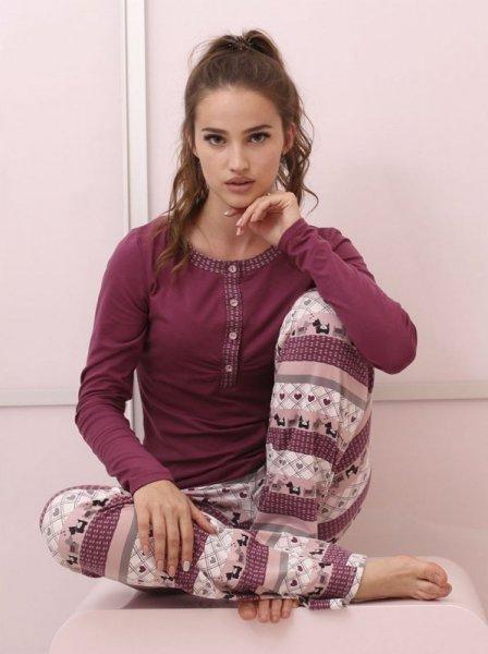 Roksana Veronica 504 Dámské pyžamo L fialová