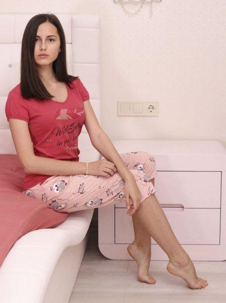 Roksana Nathalie 605 Dámské pyžamo L červená