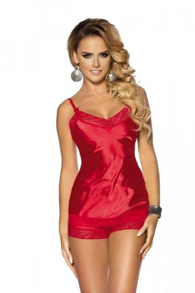 Anais Marcia noční košilka s šortkama XXL červená