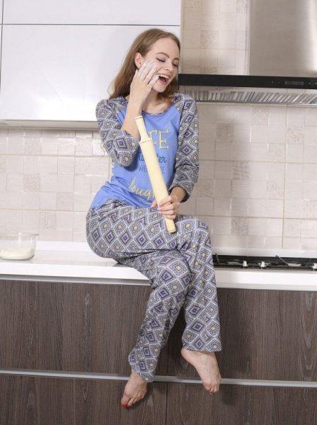 Roksana Zoe 547 Modré Dámské pyžamo M modrá