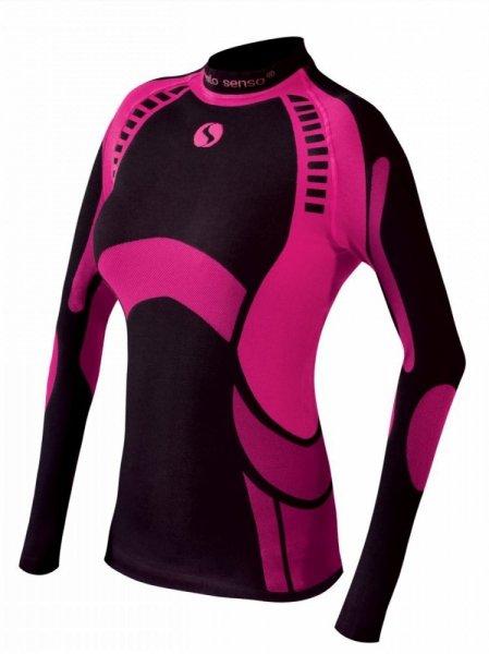 Thermo tričko Active WOMEN - SESTO SENSO Barva: ČERNÁ-BORDÓ XL fialovo-růžová