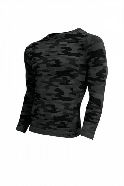 Pánské triko THERMO MILITARIA SESTO SENSO Barva: TM.ŠEDÁ XL grafitovo (tmavě šedá)-šedá