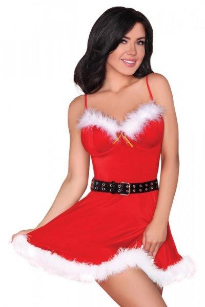 Erotický kostým LivCo Corsetti Meredith L/XL červeno-bílá