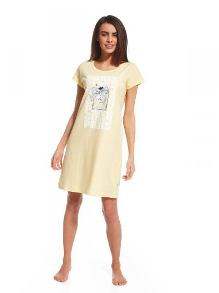 Cornette Parfum 2 612/111 Noční košilka M žlutá