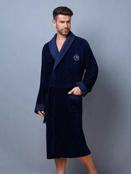 L&L Clint Tmavě modrý Pánský župan XL tmavě modrá