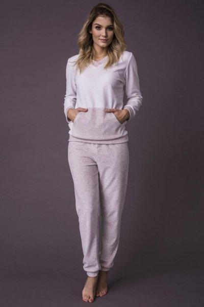 Cana Luiza 398 Dámské pyžamo XXL ecru-béžová