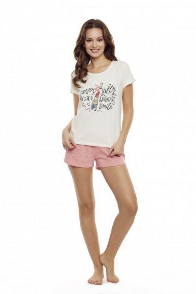 Henderson Devine 35830-01X Ecru-růžové Dámské pyžamo M ecru-růžová