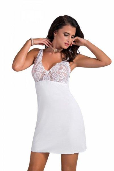 Donna Sally noční košilka white bílá M bílá