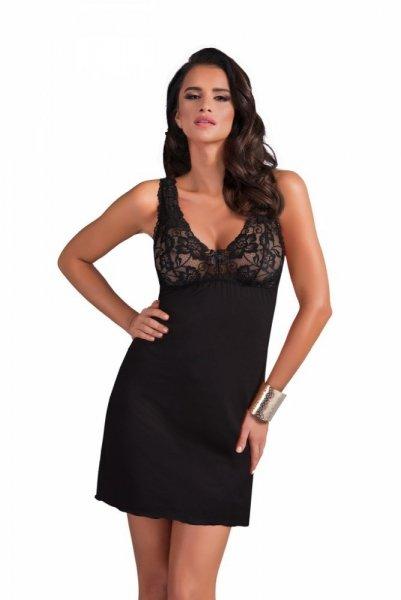 Donna Sally noční košilka černá L černá