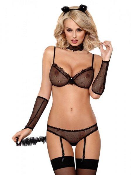 Erotický kostým 836-CST-1 L/XL černá