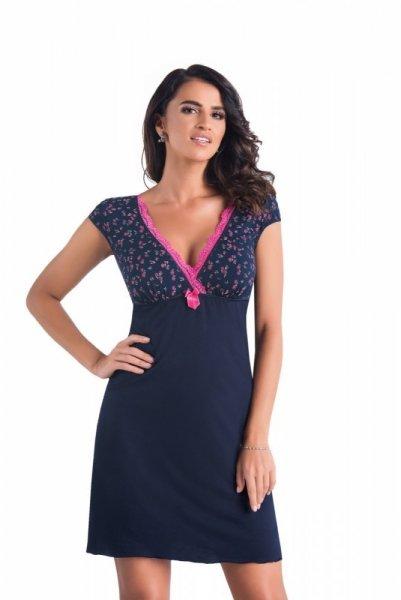 Donna Marina noční košilka M tmavě modrá-růžová