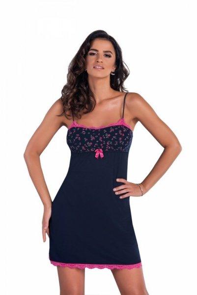 Donna Marina II noční košilka M tmavě modrá-růžová