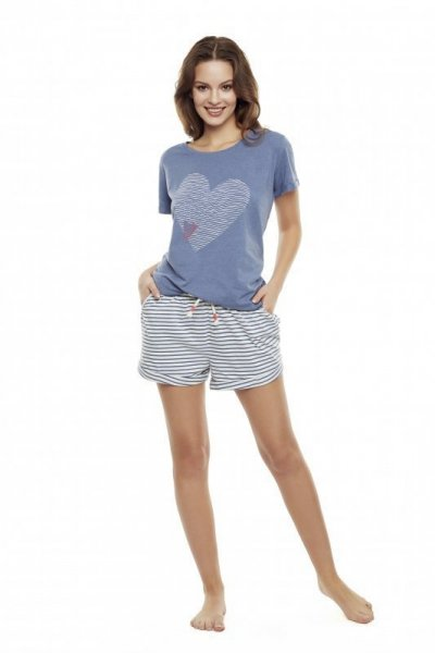 Henderson Diya 35911-59X Modré Dámské pyžamo M modrá
