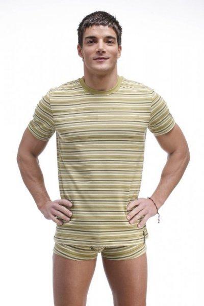 Henderson Keeth 20846 Pánské triko L béžová s proužky (84)