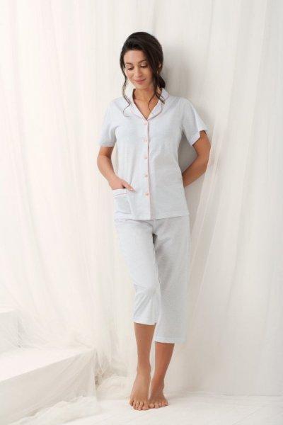 Luna Brenda 573 Šedé Dámské pyžamo M šedá
