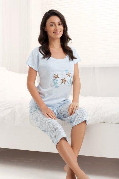 Luna Holiday 677 Světlé modré Dámské pyžamo M světle modrá