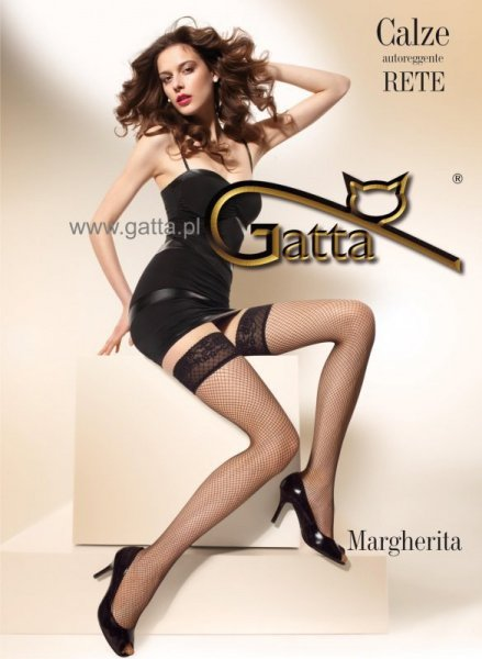 Punčochy Gatta Margherita 01 3/4 Nero