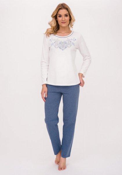 Cana Ramona 390 Ecru jeans-melanž Dámské pyžamo XXL Ecru jeans - melange