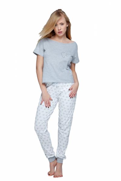 Sensis Heart Dámské pyžamo XL šedo-ecru