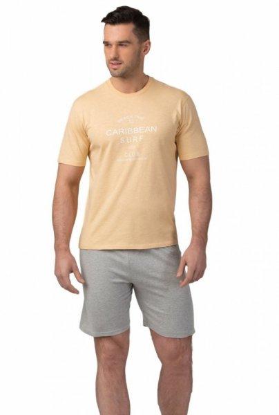 Pánské pyžamo SAM-PY-106 Rossli XL žluto-šedá