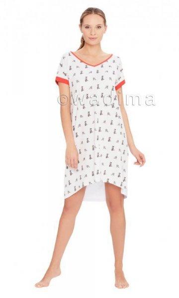 Wadima Kitty 104405 kr.ruk. Noční košilka M bílá