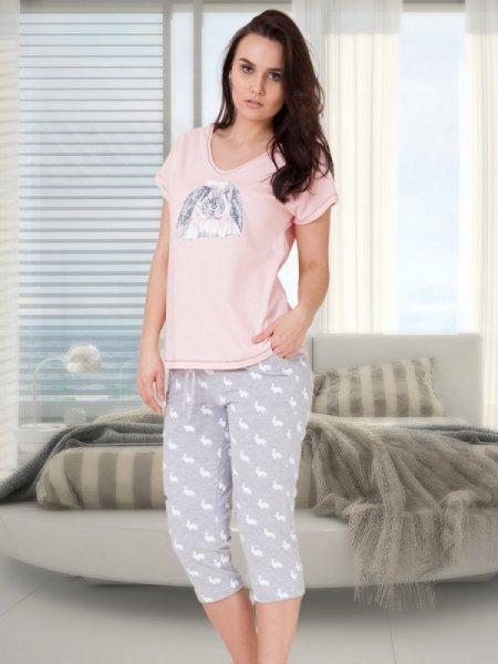 M-Max Benita 617 Růžové Dámské pyžamo M růžová