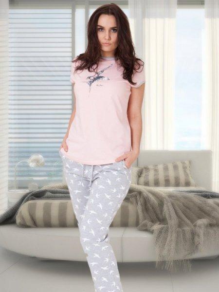 M-Max Liwia 630 Růžové Dámské pyžamo L růžová