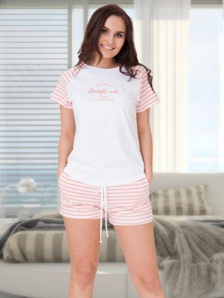 M-Max Amanda 615 Růžový melanž Dámské pyžamo L růžový melanž