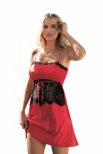 Dkaren Claire červená Noční košile M červeno-černá