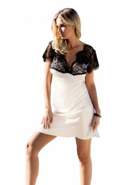 DKaren Kayla noční košilka bílá M ecru-černá