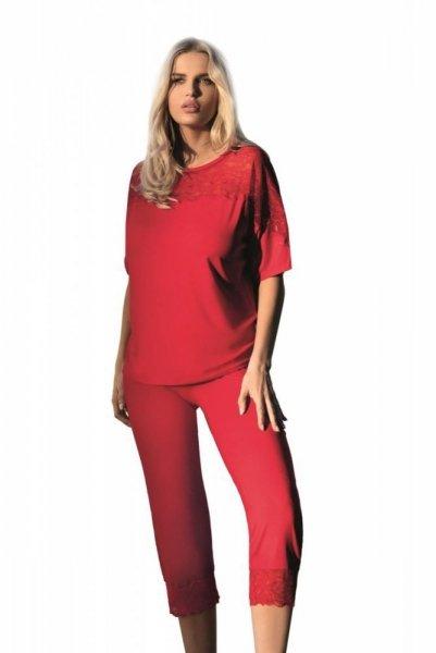 Dkaren Ara červená Dámské pyžamo L červená