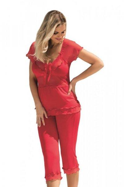 Dkaren Tania červená Dámské pyžamo L červená