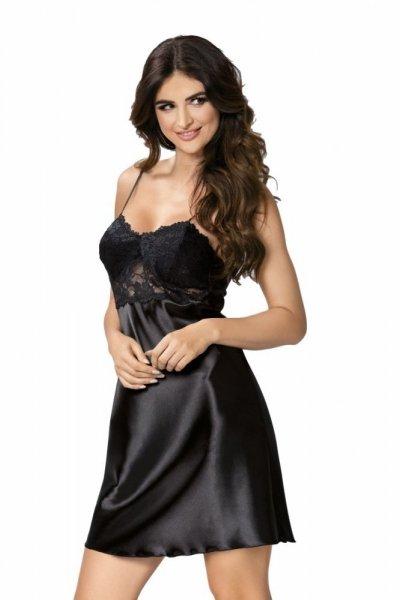 Donna Venus noční košilka černá S černá
