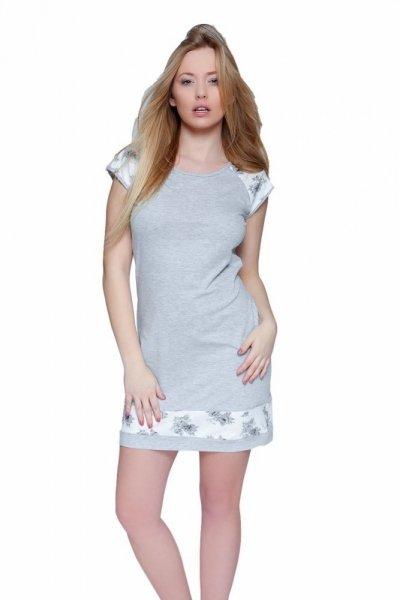Noční košile Romantic šedá XL šedo-ecru