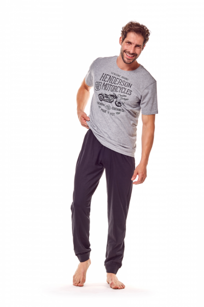 94a3f95aa016 Henderson Force 36204-90X Šedo-černé Pánské pyžamo M šedo-černá