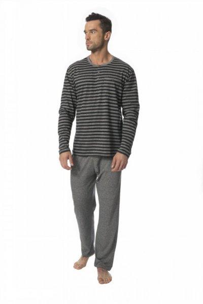 Rossli 117 pánské pyžamo L šedá-proužky