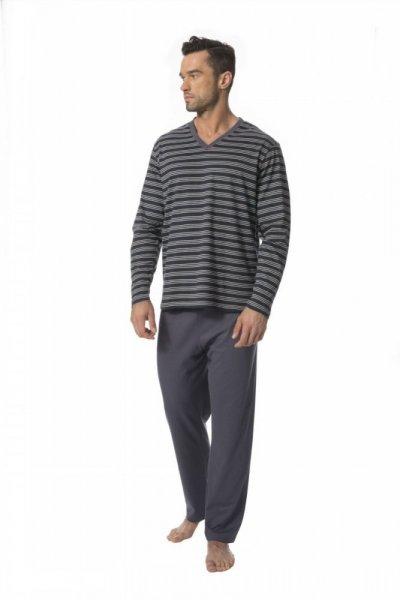 Rossli SAM-PY-127 Pánské pyžamo L šedá-proužky
