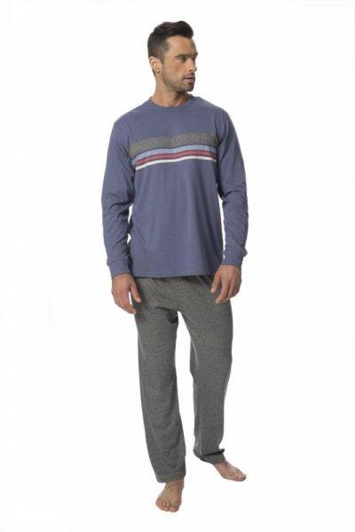 Rossli SAM-PY-132 Pánské pyžamo XXL modro-šedá