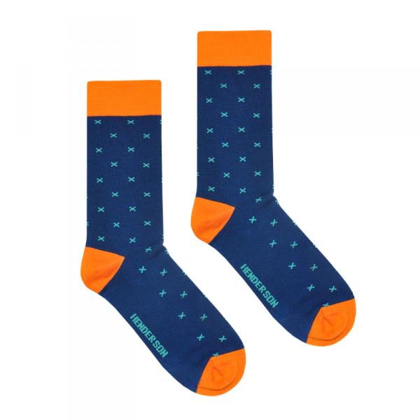 Henderson 36464 Color K007 Pánské ponožky 43-46 tmavě modrá ec9ab68157