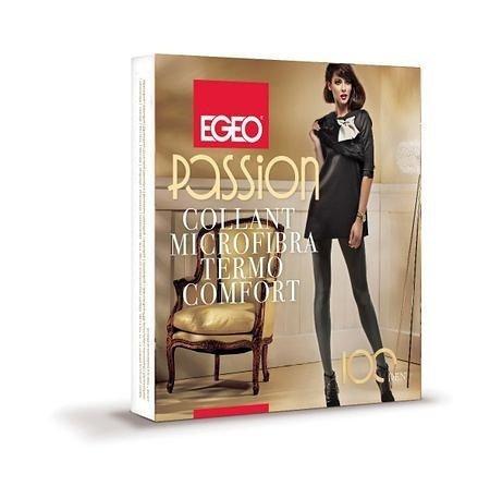 Egeo Passion Microfibra Termo Comfort 100 den Punčochové kalhoty 2-S nero/černá
