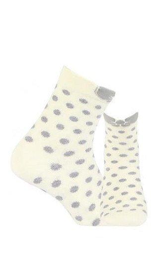 Gatta Cottoline vzorované G34.01N 6-11 let Ponožky 27-29 off white