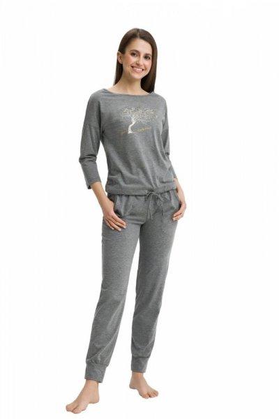 Luna 460 Dámské pyžamo M šedá