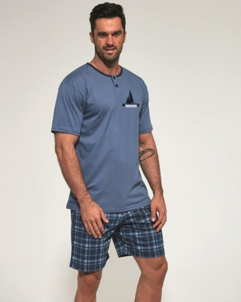 Cornette 327/98 Travel pánské pyžamo XXL jeans
