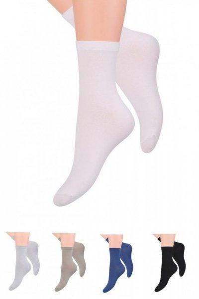 Steven 031 Dámské bavlněné ponožky 39/42 bílá