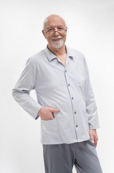 Martel Antoni 403 Rozepínané Pánské pyžamo XXL šedá