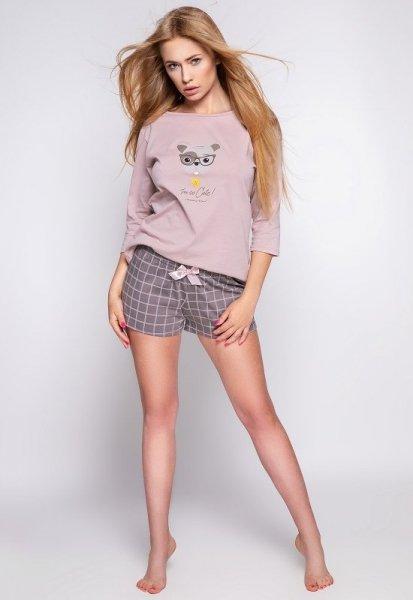 Sensis Cane Dámské pyžamo XL mocca-szary